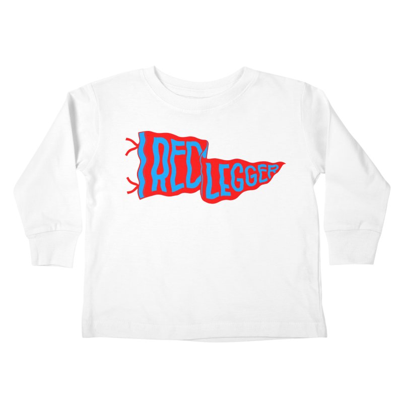 RED LEGGER PENNANT Kids Toddler Longsleeve T-Shirt by redleggerstudio's Shop