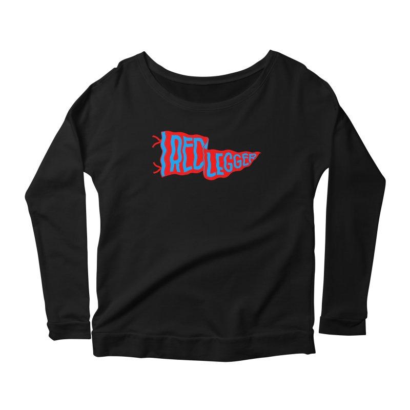 RED LEGGER PENNANT Women's Scoop Neck Longsleeve T-Shirt by redleggerstudio's Shop