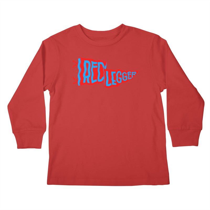 RED LEGGER PENNANT Kids Longsleeve T-Shirt by redleggerstudio's Shop