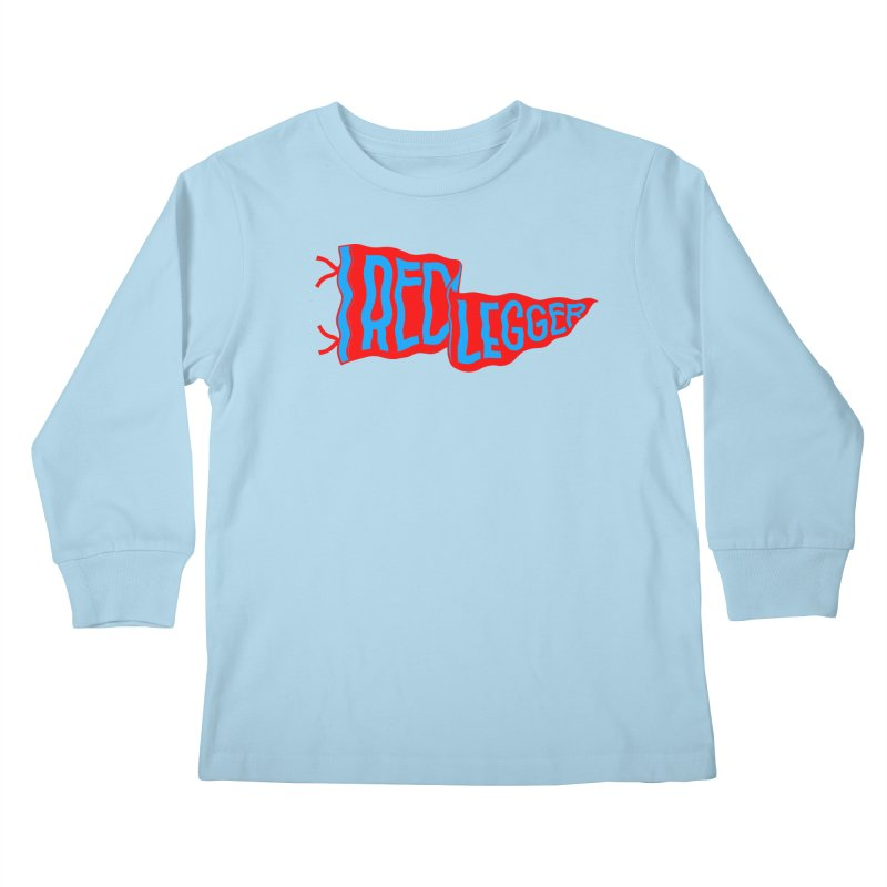RED LEGGER PENNANT Kids Longsleeve T-Shirt by redleggerstudio's Shop
