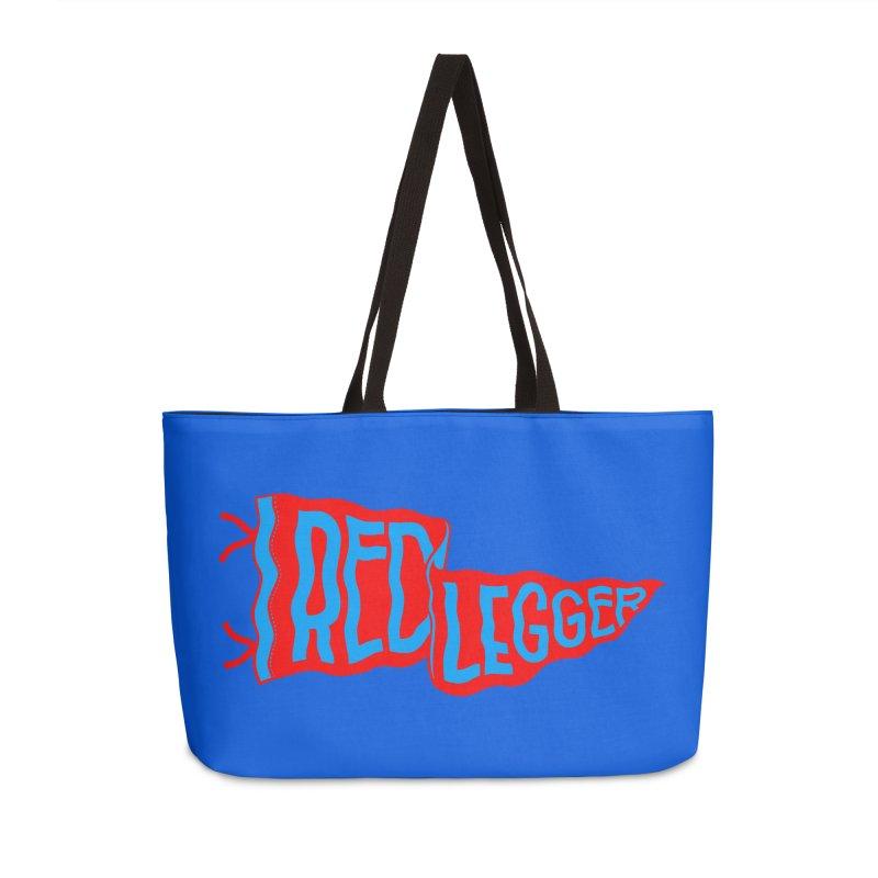 RED LEGGER PENNANT Accessories Weekender Bag Bag by redleggerstudio's Shop