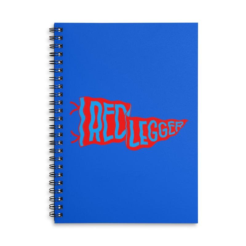 RED LEGGER PENNANT Accessories Lined Spiral Notebook by redleggerstudio's Shop