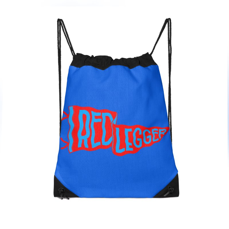 RED LEGGER PENNANT Accessories Drawstring Bag Bag by redleggerstudio's Shop