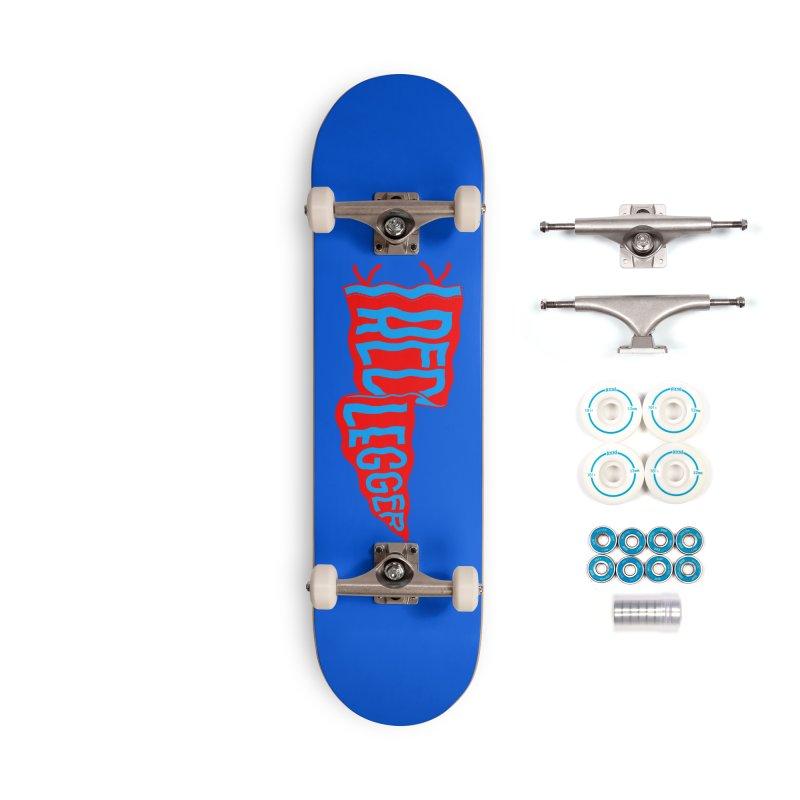RED LEGGER PENNANT Accessories Complete - Basic Skateboard by redleggerstudio's Shop