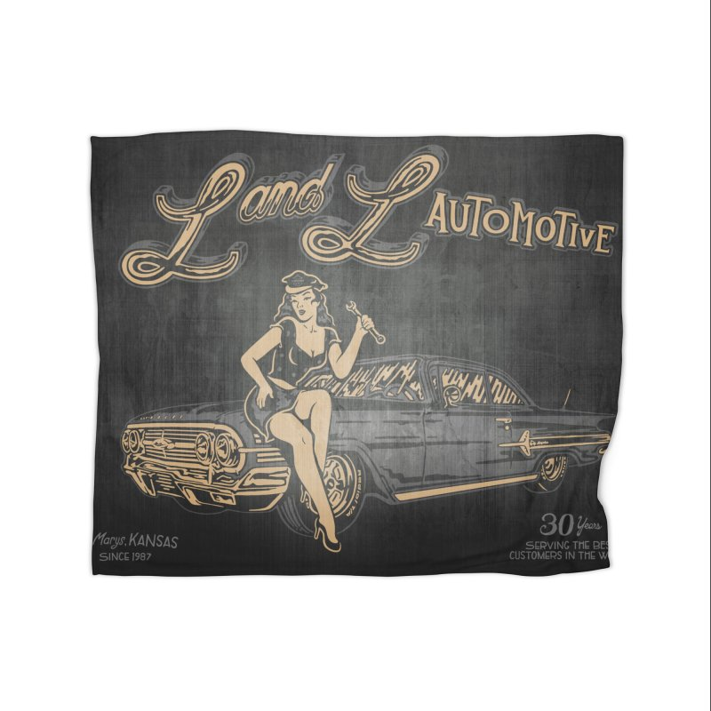 L and L Automotive Home Fleece Blanket Blanket by redleggerstudio's Shop