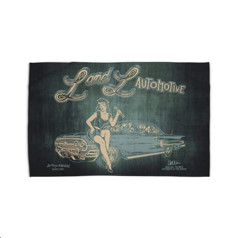 L and L Automotive Home Rug by redleggerstudio's Shop