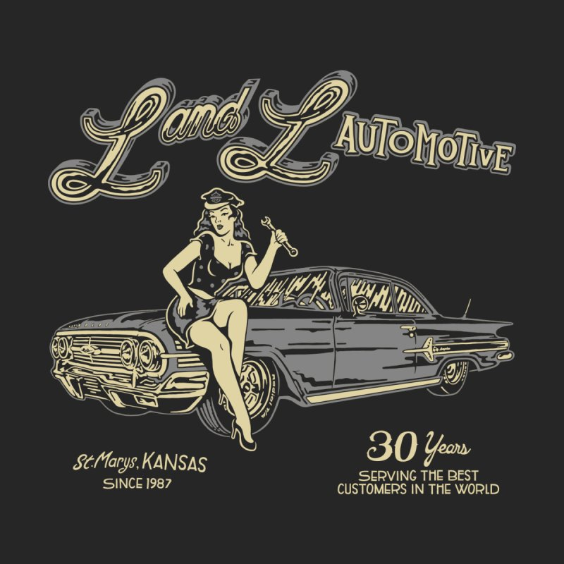 L and L Automotive Women's Scoop Neck by redleggerstudio's Shop