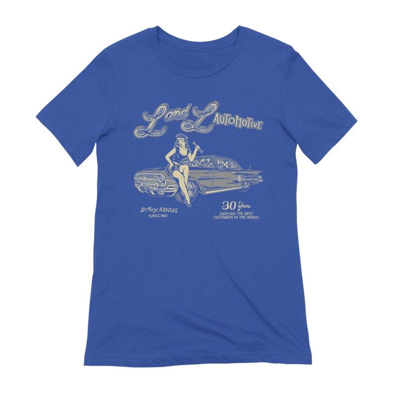 L and L Automotive Women's Extra Soft T-Shirt by redleggerstudio's Shop