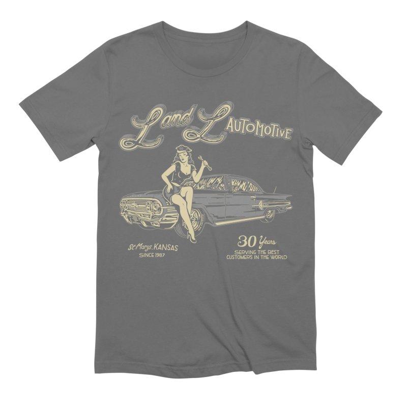 L and L Automotive Men's Extra Soft T-Shirt by redleggerstudio's Shop