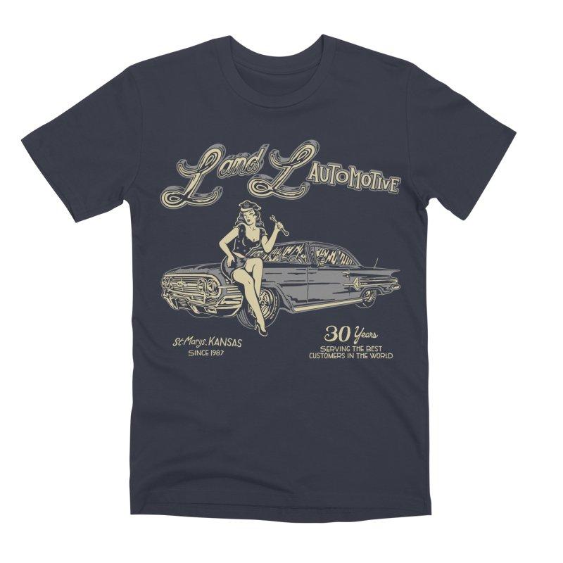 L and L Automotive Men's Premium T-Shirt by redleggerstudio's Shop