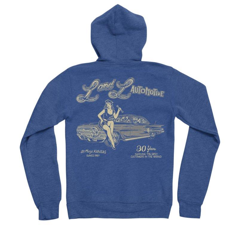 L and L Automotive Men's Sponge Fleece Zip-Up Hoody by redleggerstudio's Shop