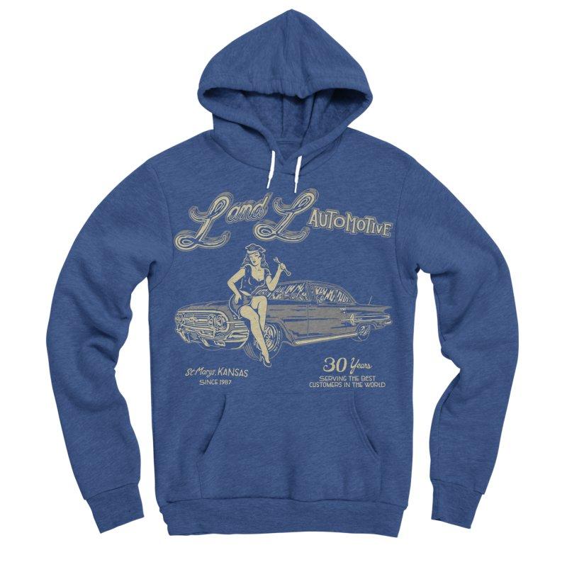 L and L Automotive Men's Sponge Fleece Pullover Hoody by redleggerstudio's Shop