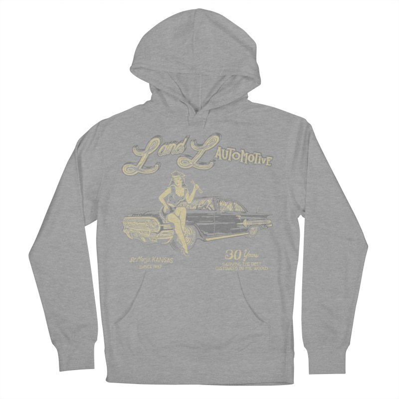 L and L Automotive Men's French Terry Pullover Hoody by redleggerstudio's Shop