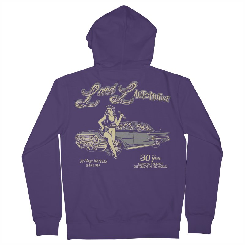 L and L Automotive Women's French Terry Zip-Up Hoody by redleggerstudio's Shop