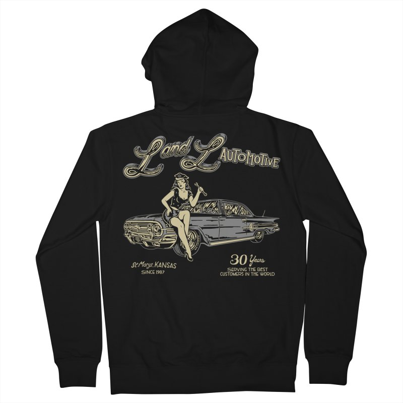 L and L Automotive Men's French Terry Zip-Up Hoody by redleggerstudio's Shop