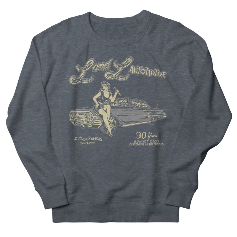 L and L Automotive Women's French Terry Sweatshirt by redleggerstudio's Shop