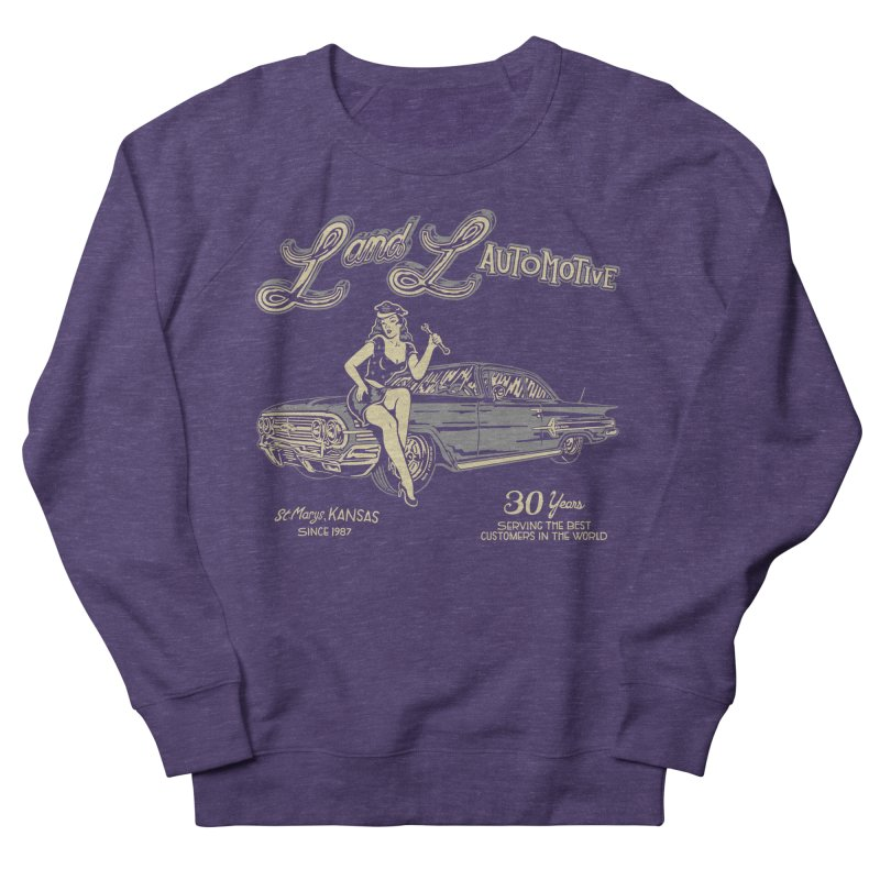 L and L Automotive Men's French Terry Sweatshirt by redleggerstudio's Shop