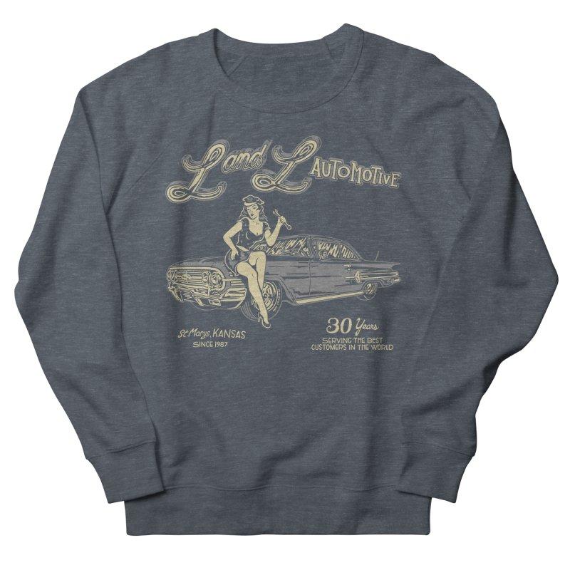L and L Automotive Men's French Terry Sweatshirt by redleggerstudio's Shop