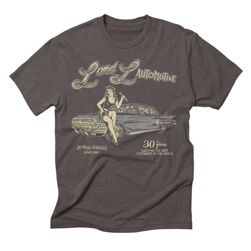 L and L Automotive Men's Triblend T-Shirt by redleggerstudio's Shop