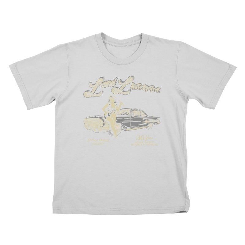 L and L Automotive Kids T-Shirt by redleggerstudio's Shop