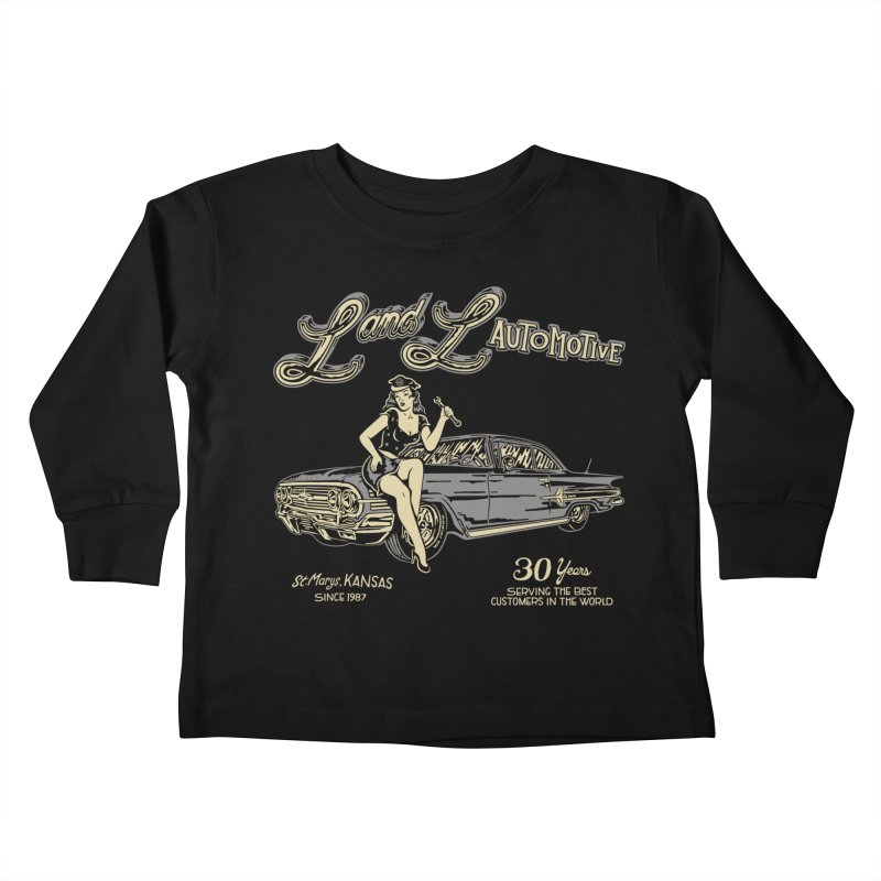 L and L Automotive Kids Toddler Longsleeve T-Shirt by redleggerstudio's Shop