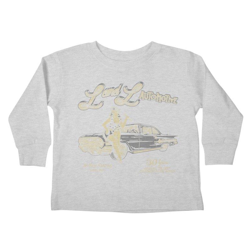 L and L Automotive Kids Toddler Longsleeve T-Shirt by redleggerstudio's Shop