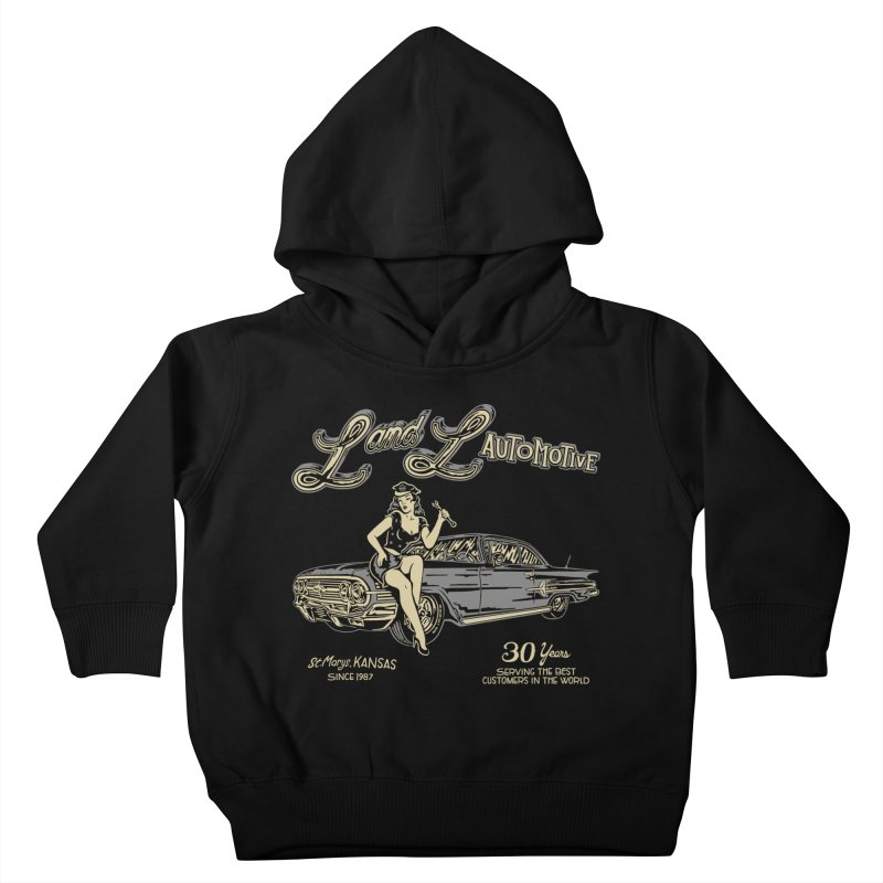 L and L Automotive Kids Toddler Pullover Hoody by redleggerstudio's Shop