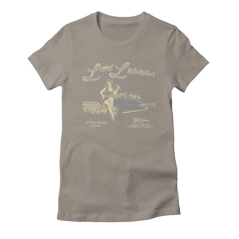 L and L Automotive Women's Fitted T-Shirt by redleggerstudio's Shop