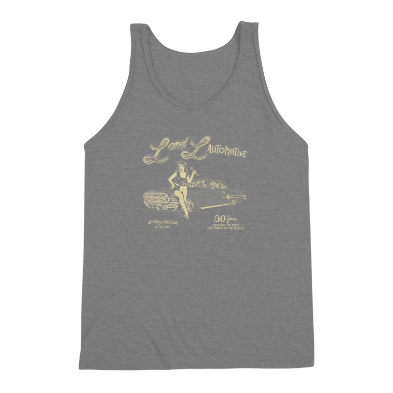 L and L Automotive Men's Triblend Tank by redleggerstudio's Shop