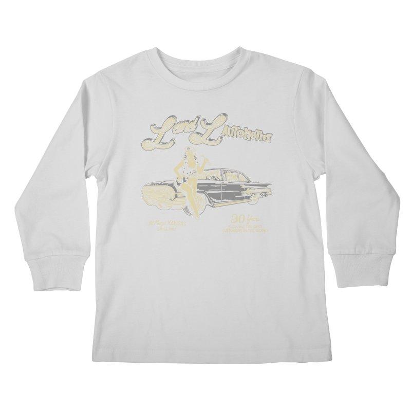 L and L Automotive Kids Longsleeve T-Shirt by redleggerstudio's Shop