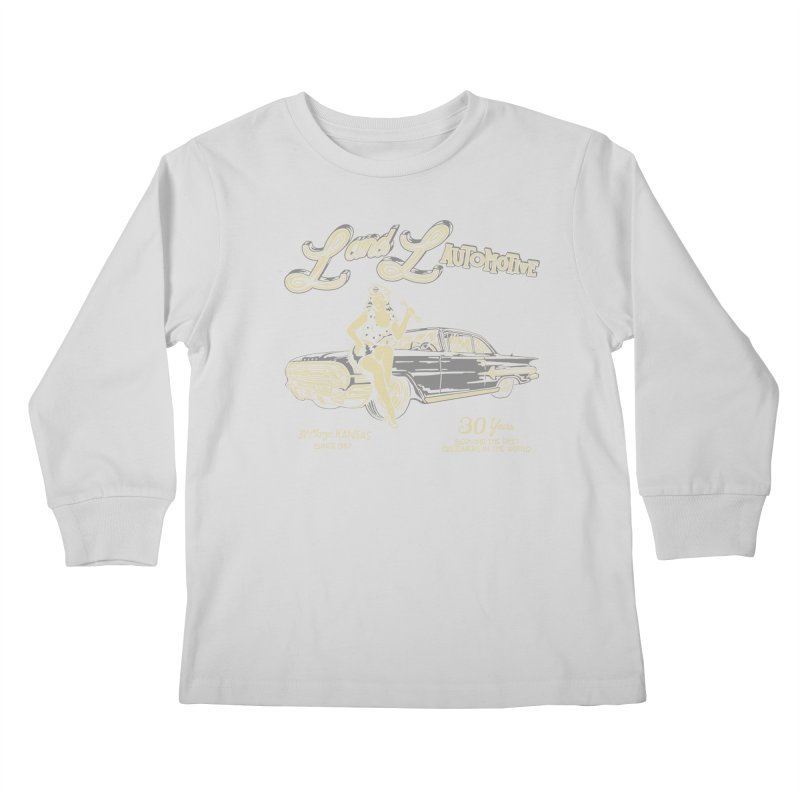 L and L Automotive Kids Longsleeve T-Shirt by redleggerstudio's Shop