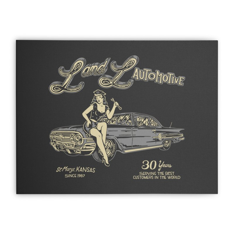 L and L Automotive Home Stretched Canvas by redleggerstudio's Shop
