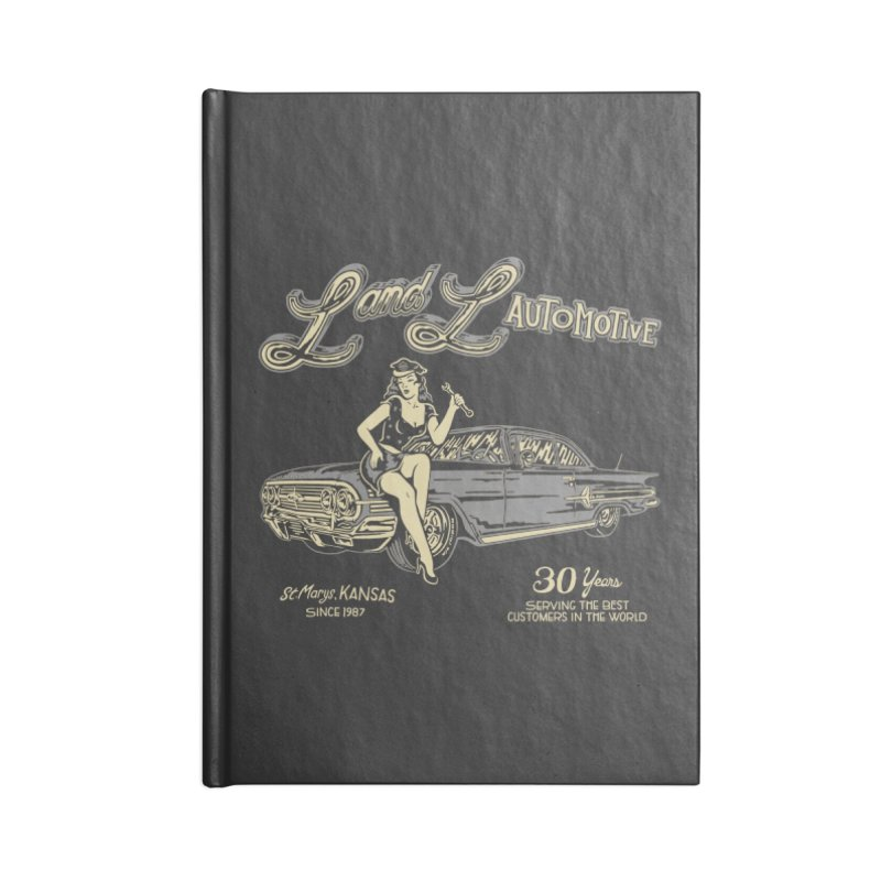 L and L Automotive Accessories Lined Journal Notebook by redleggerstudio's Shop