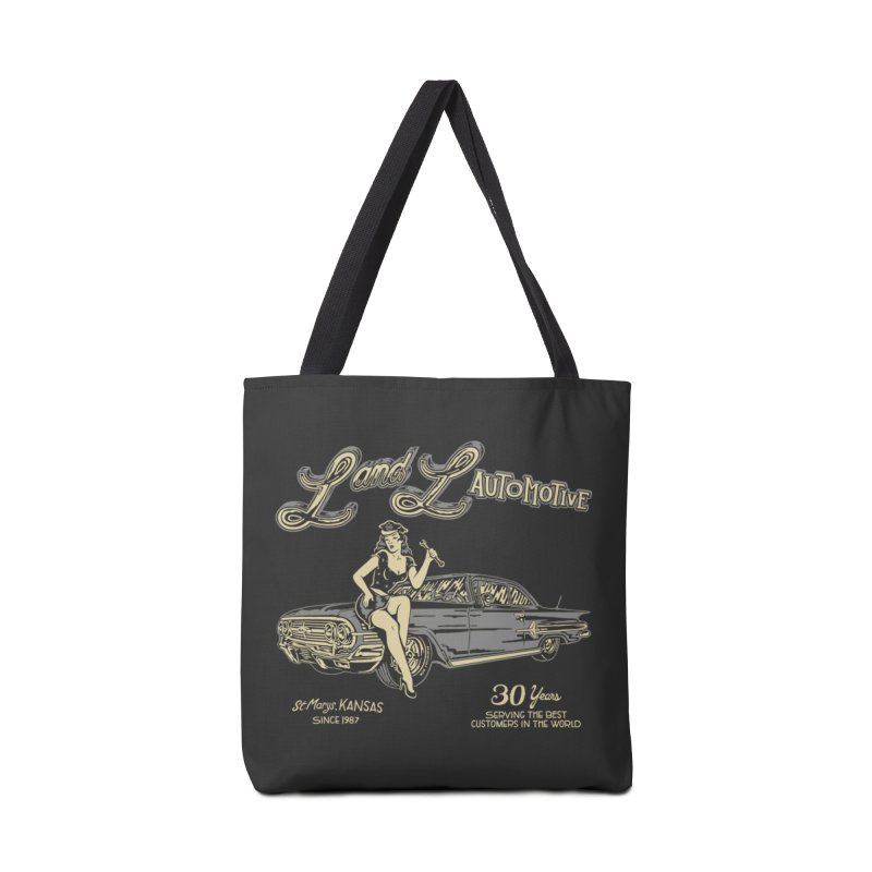 L and L Automotive Accessories Tote Bag Bag by redleggerstudio's Shop