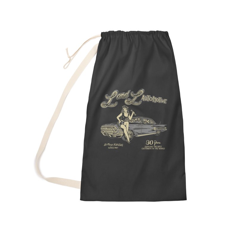 L and L Automotive Accessories Laundry Bag Bag by redleggerstudio's Shop