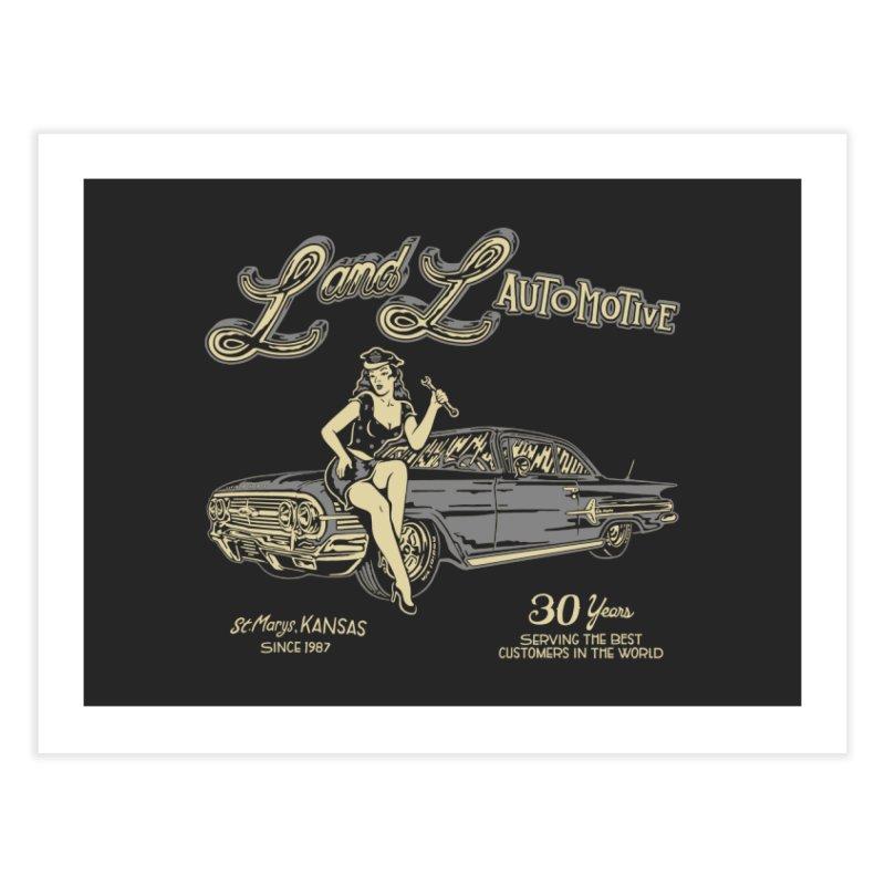 L and L Automotive Home Fine Art Print by redleggerstudio's Shop