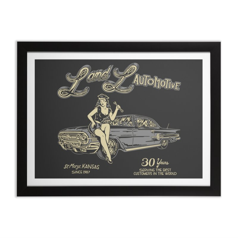 L and L Automotive Home Framed Fine Art Print by redleggerstudio's Shop
