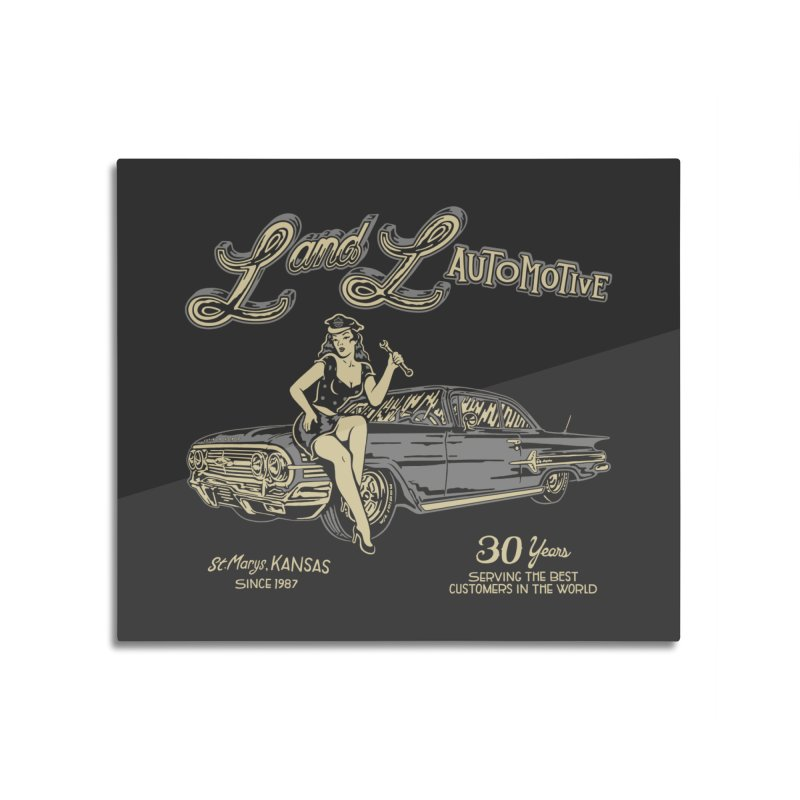 L and L Automotive Home Mounted Acrylic Print by redleggerstudio's Shop