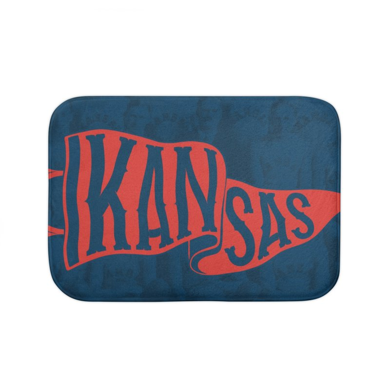 Kansas Pennant Home Bath Mat by redleggerstudio's Shop
