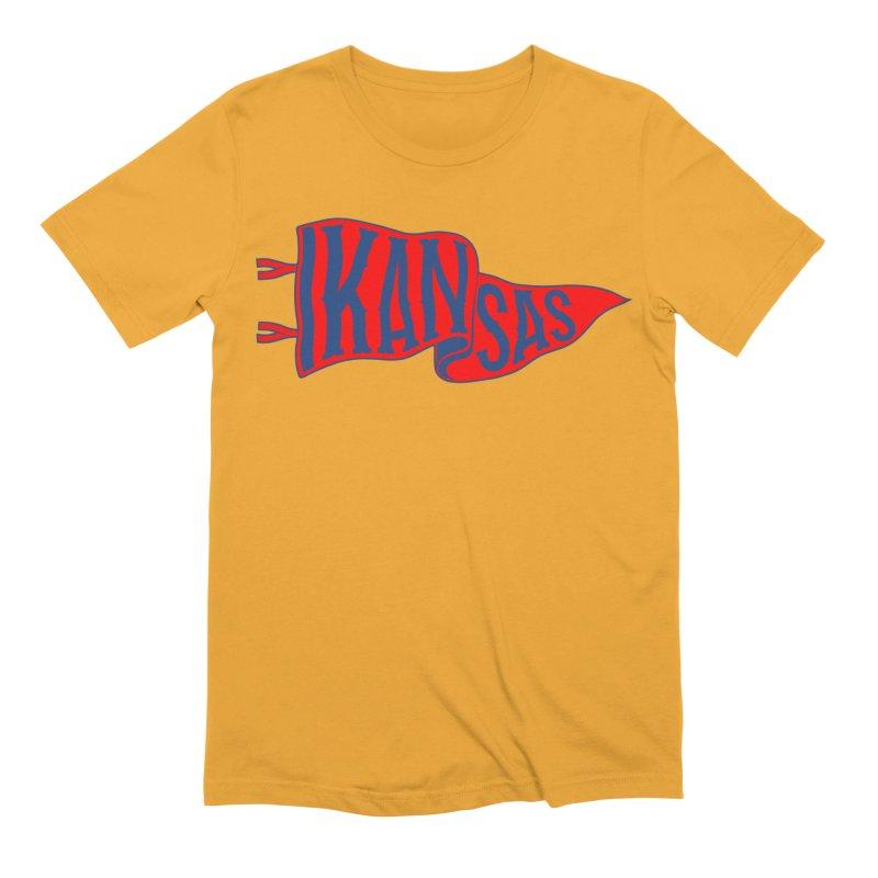 Kansas Pennant Men's Extra Soft T-Shirt by redleggerstudio's Shop