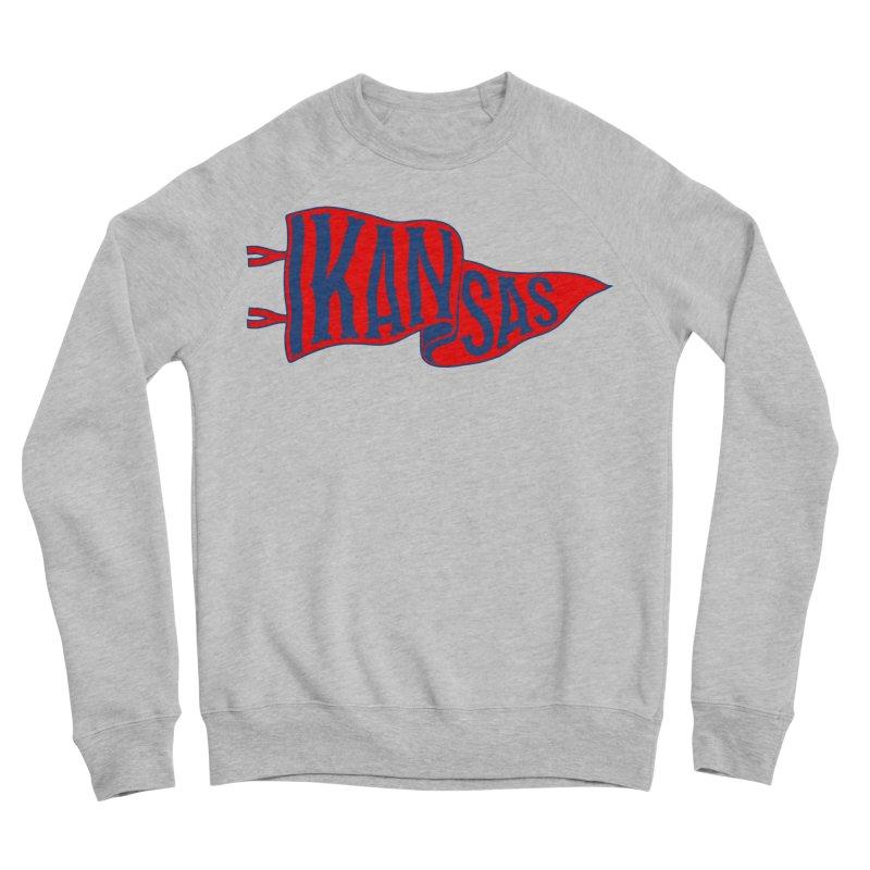 Kansas Pennant Women's Sponge Fleece Sweatshirt by redleggerstudio's Shop
