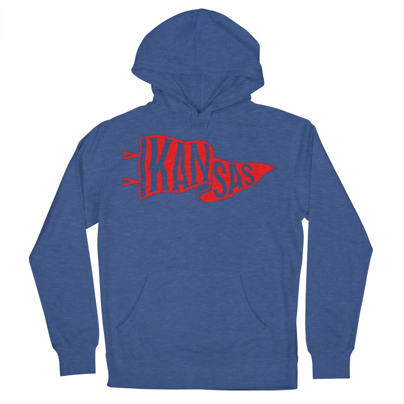 Kansas Pennant Women's French Terry Pullover Hoody by redleggerstudio's Shop