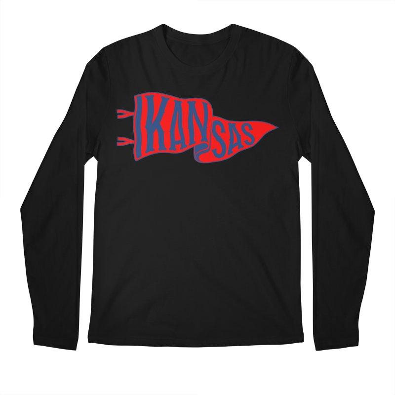 Kansas Pennant Men's Regular Longsleeve T-Shirt by redleggerstudio's Shop