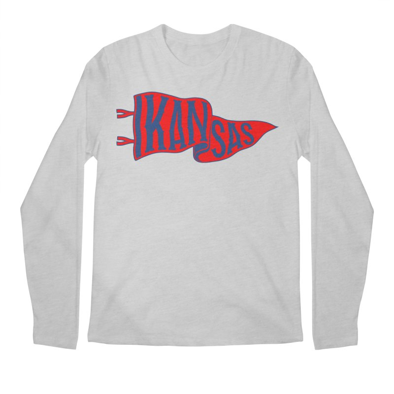 Kansas Pennant Men's Regular Longsleeve T-Shirt by redleggerstudio's Shop