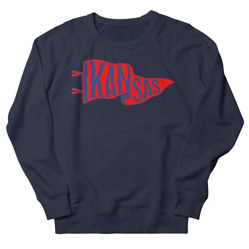 Kansas Pennant Women's French Terry Sweatshirt by redleggerstudio's Shop
