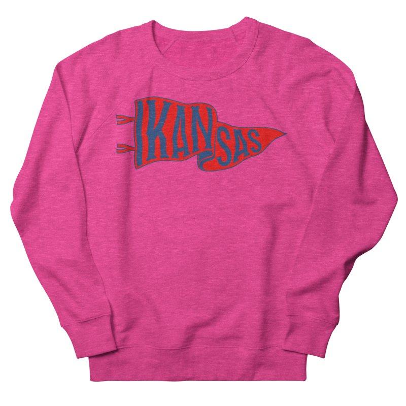 Kansas Pennant Men's French Terry Sweatshirt by redleggerstudio's Shop