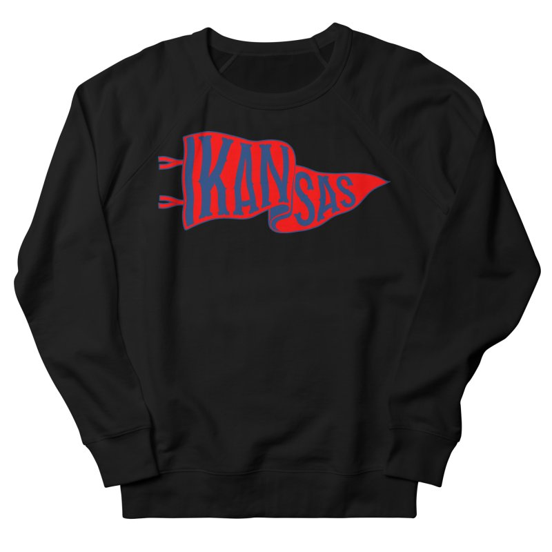 Kansas Pennant Men's French Terry Sweatshirt by redleggerstudio's Shop
