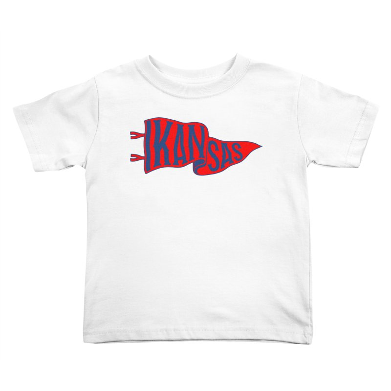 Kansas Pennant Kids Toddler T-Shirt by redleggerstudio's Shop