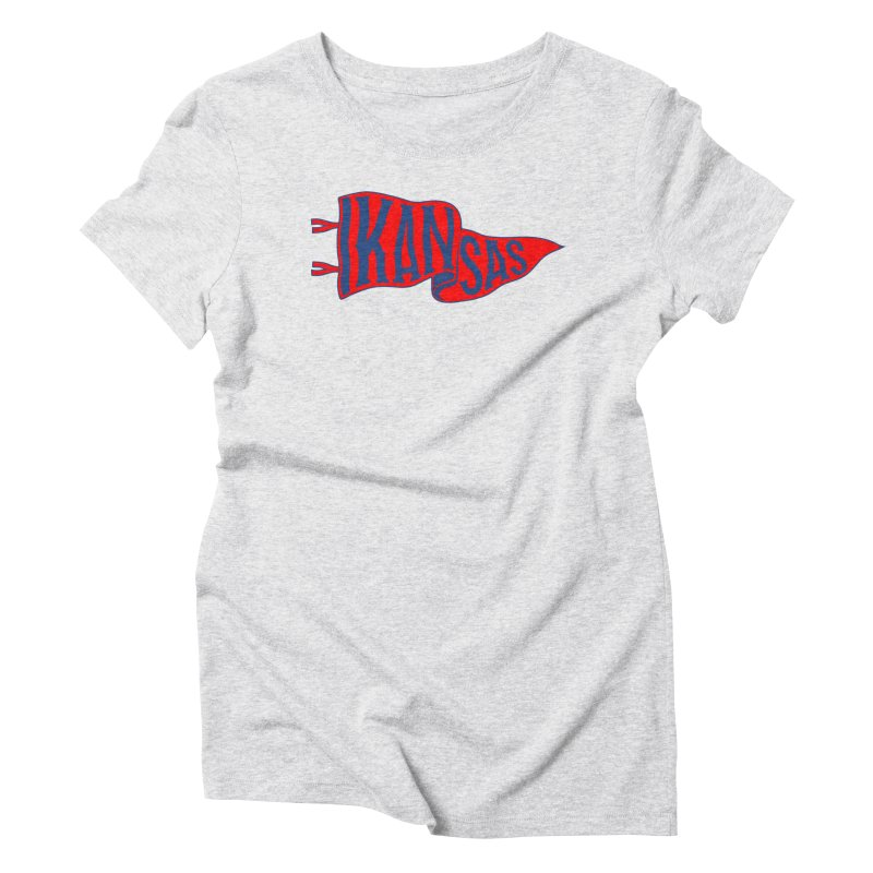 Kansas Pennant Women's T-Shirt by redleggerstudio's Shop