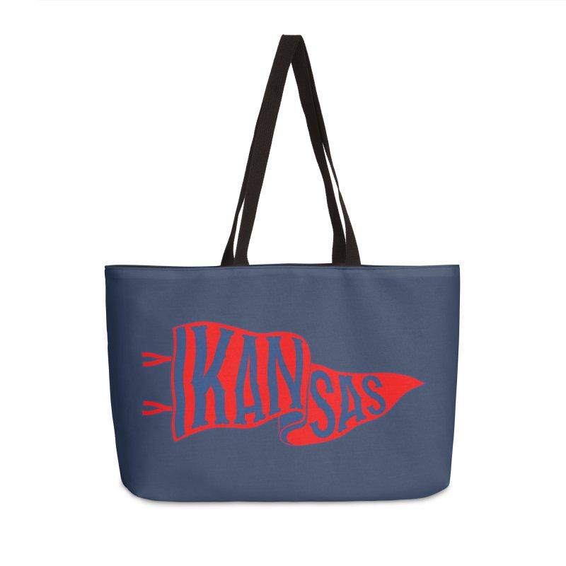 Kansas Pennant Accessories Weekender Bag Bag by redleggerstudio's Shop